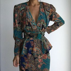 VINTAGE EXPOSE CALIFORNIA floral printed dress 12